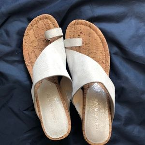 Donald Pliner size 8.5 silver sandals